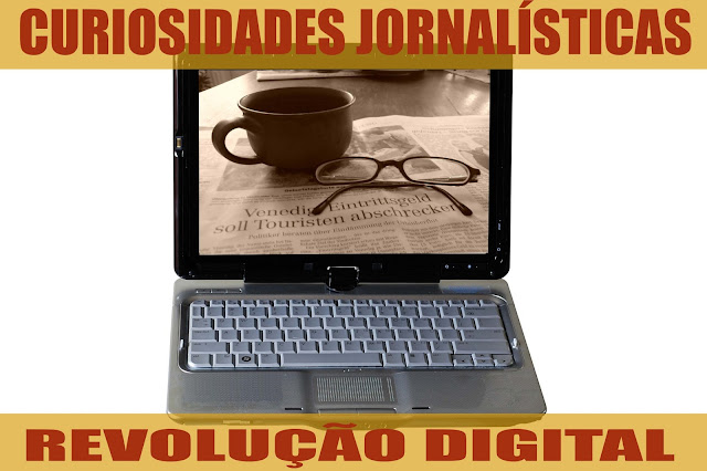 Os blogs permitiram a um número muito maior de pessoas amplificar sua voz, de modo que era impensável há 20 anos. Notebook em que aparece, na tela, imagem de uma xícara e um par de óculos em cima de um jornal impresso.