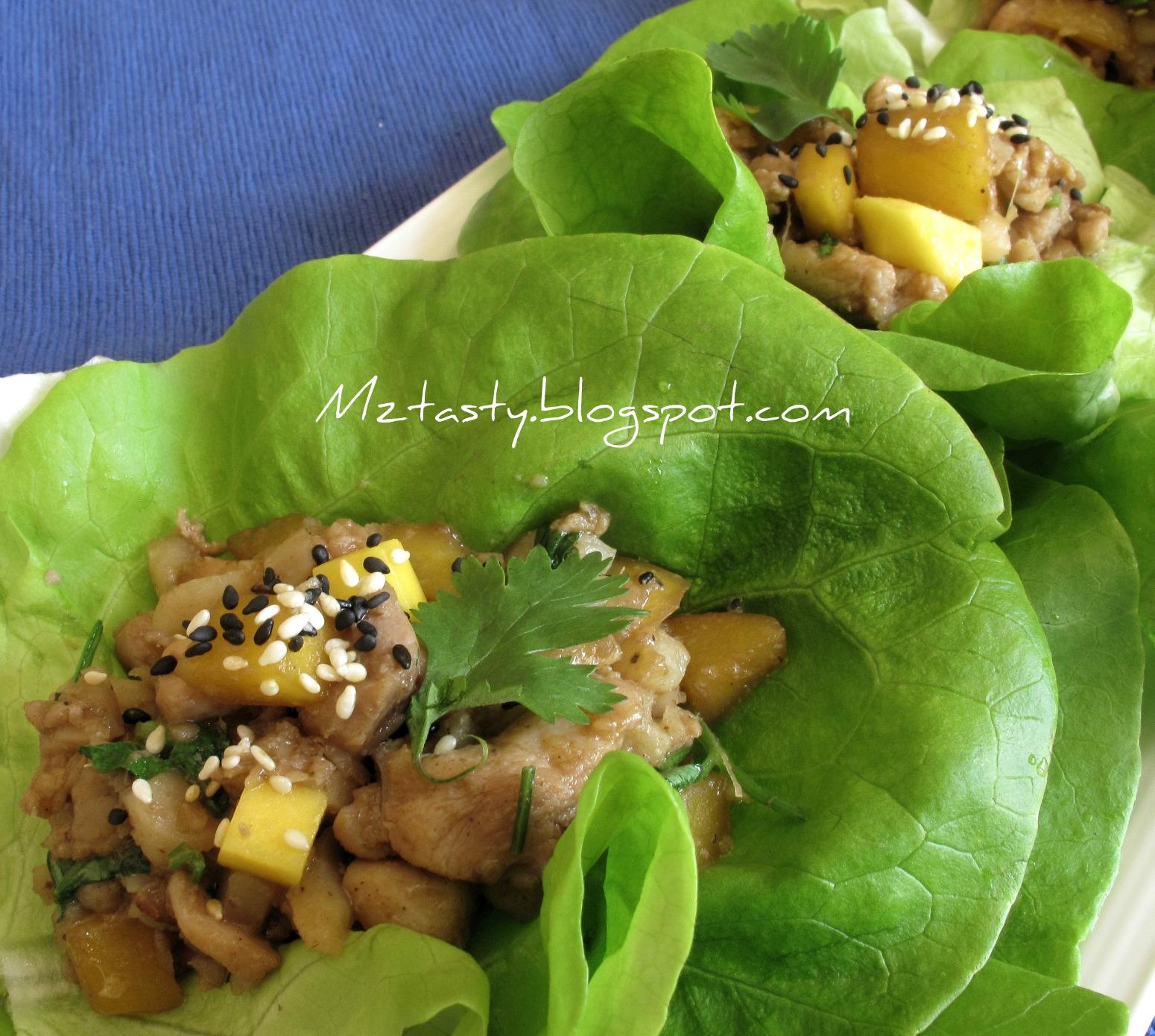 Chicken Mango Lettuce Wraps Recipes — Dishmaps