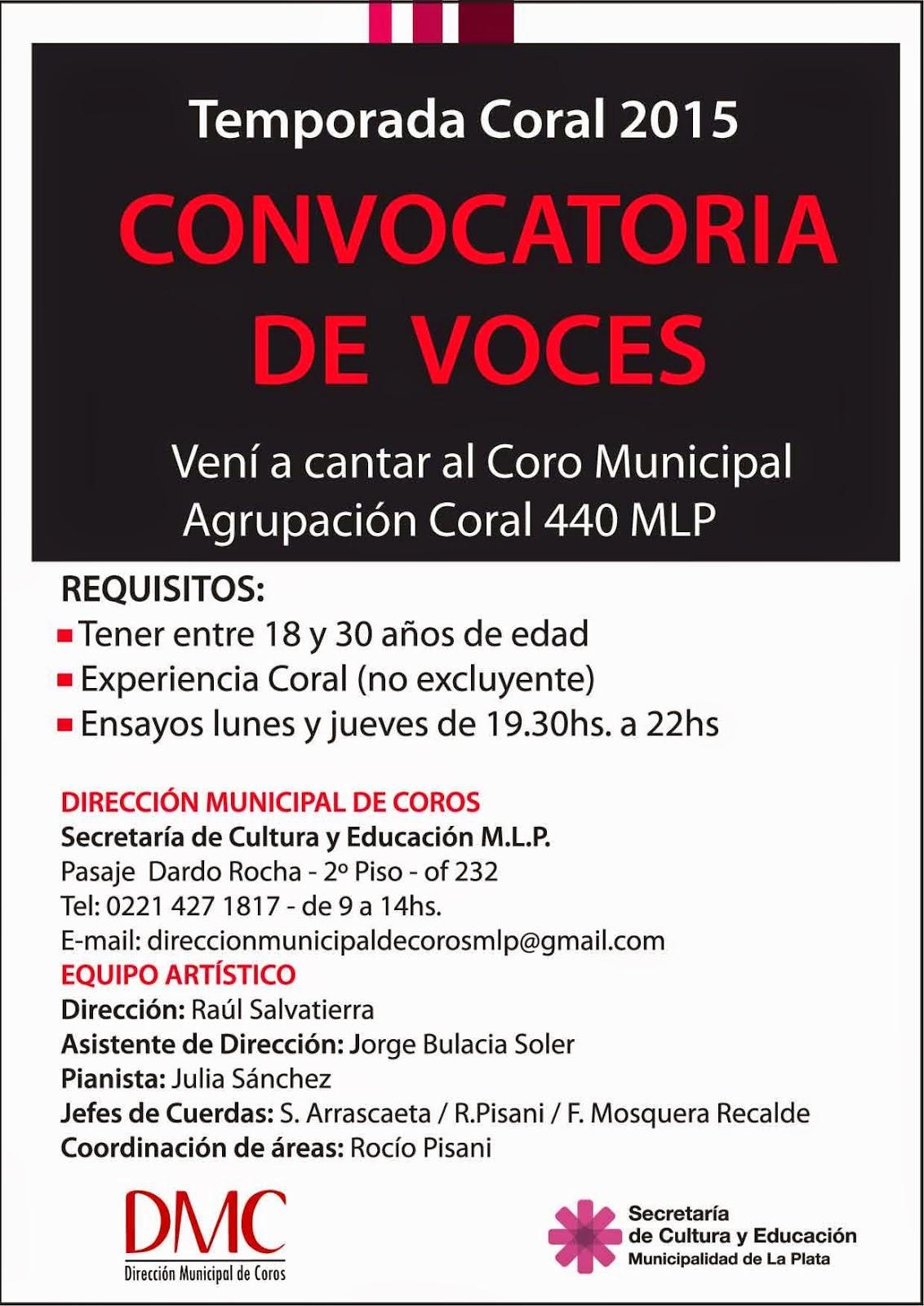 CONVOCATORIA DE VOCES