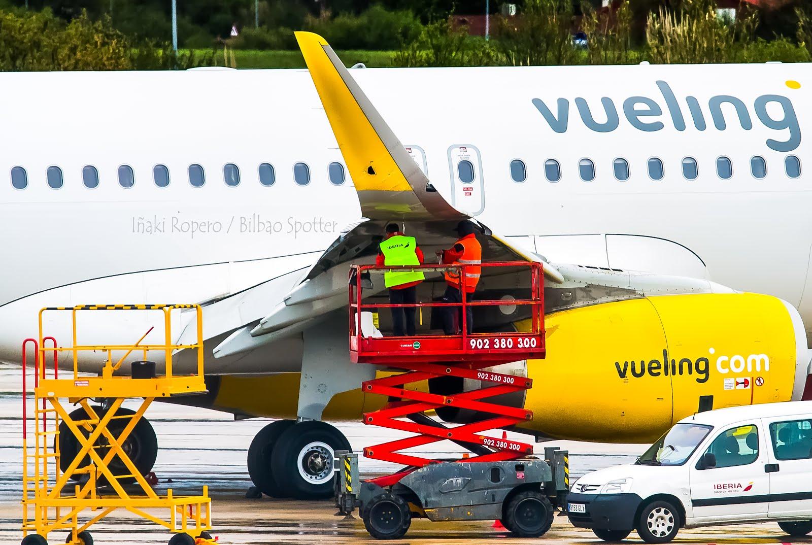 Rayo impacta contra el EC-MVD de Vueling y lo obliga a cambiar Sharklets