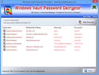 Free Password Recovery and Scanner Tool