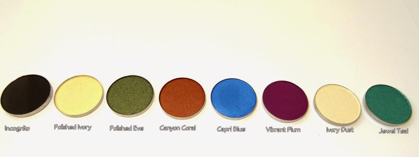 coastal scents hot pots haul Incognito,polished ivory, polished eve,canyon coral, Capri blue,vibrant plum, ivory dust,jewel teal
