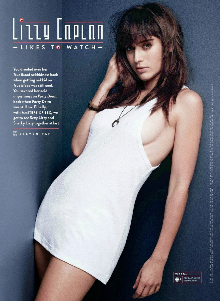 Lizzy Caplan   Gq Magazine October 2013
