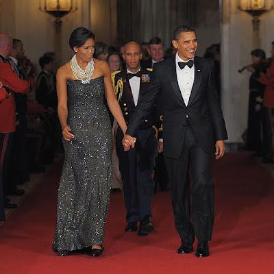 Barack Obama és Michelle Obama a Fisrt Lady Black Tie öltözetben