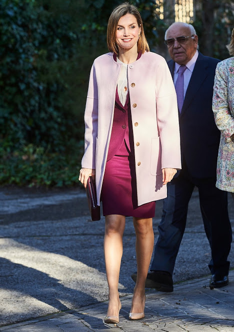 Queen Letizia Attended A Meeting With The Foundation For Against Drug Addiction In Madrid
