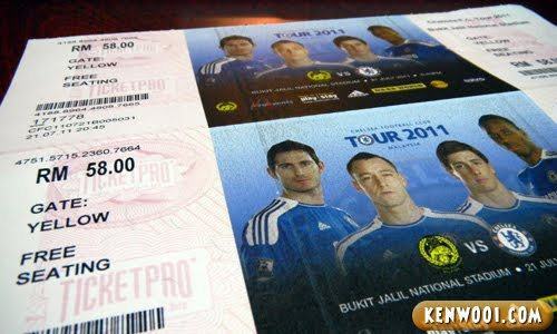 chelsea malaysia ticket