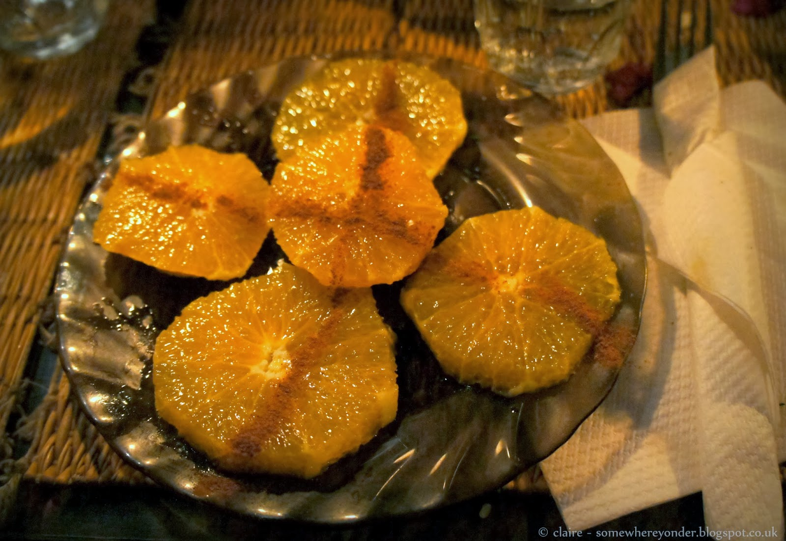 Sliced orange with cinnamon - Djemaa El-Fna Marrakech