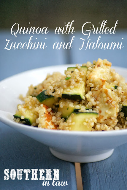 Quinoa with Grilled Haloumi and Zucchini - Healthy Vegetarian Main or Side Dish Recipe, Gluten Free, Low Fat