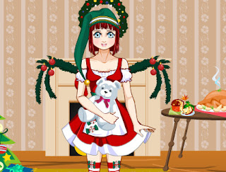 Juego de vestir a la muñeca para la navidad