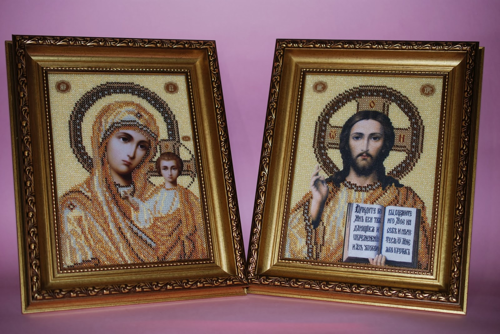 Вышивка икон венчальная пара