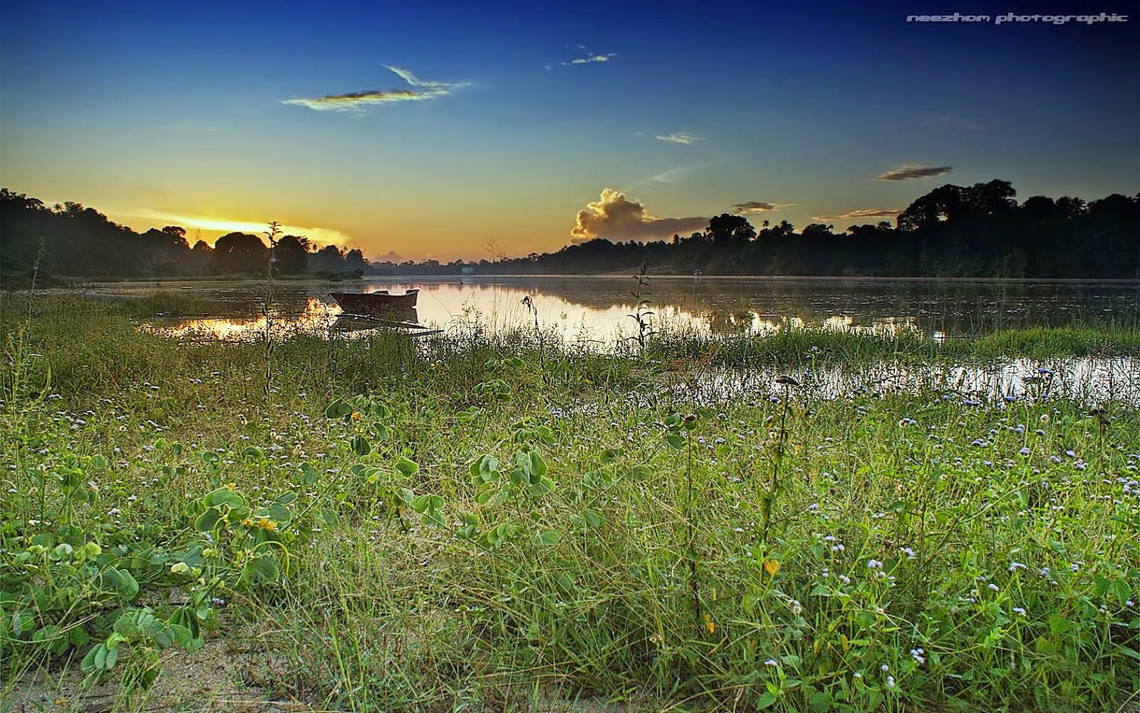 Sungai di kampung Batu Hampar sunrise