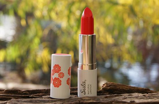 orange red lipstick natural
