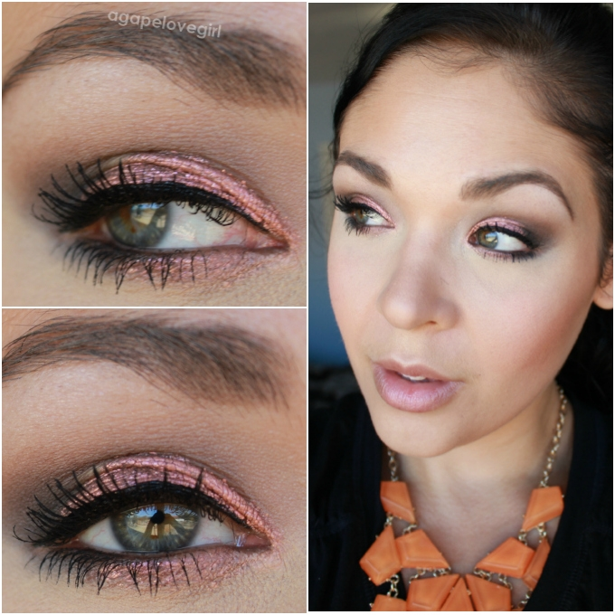 Rose gold makeup look