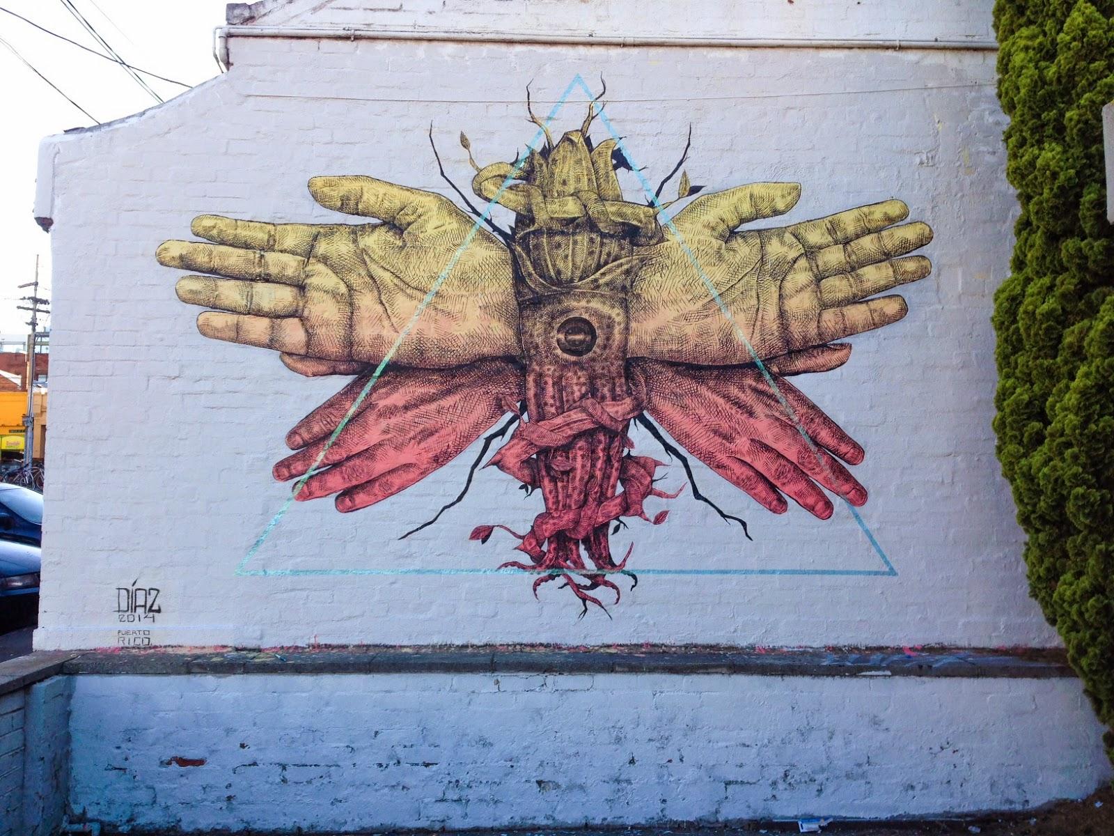 Alexis diaz new mural melbourne australia for Australian mural