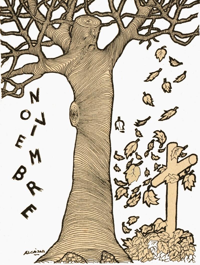 Noviembre Amador Porres, poema de otoño