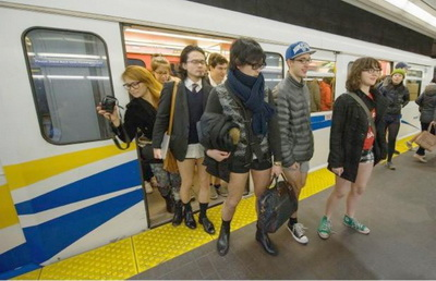 No Pants Subway Ride-7