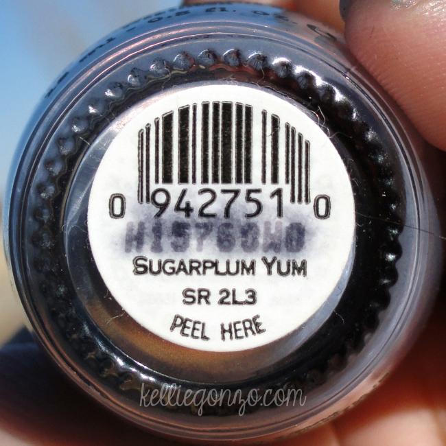 OPI Sugarplum Yum label