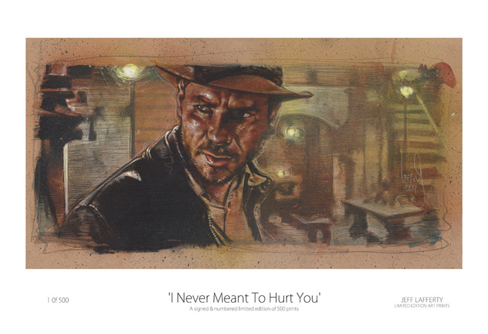 Harrison Ford as Indiana Jones, Artwork is Copyright © 2014 Jeff Lafferty