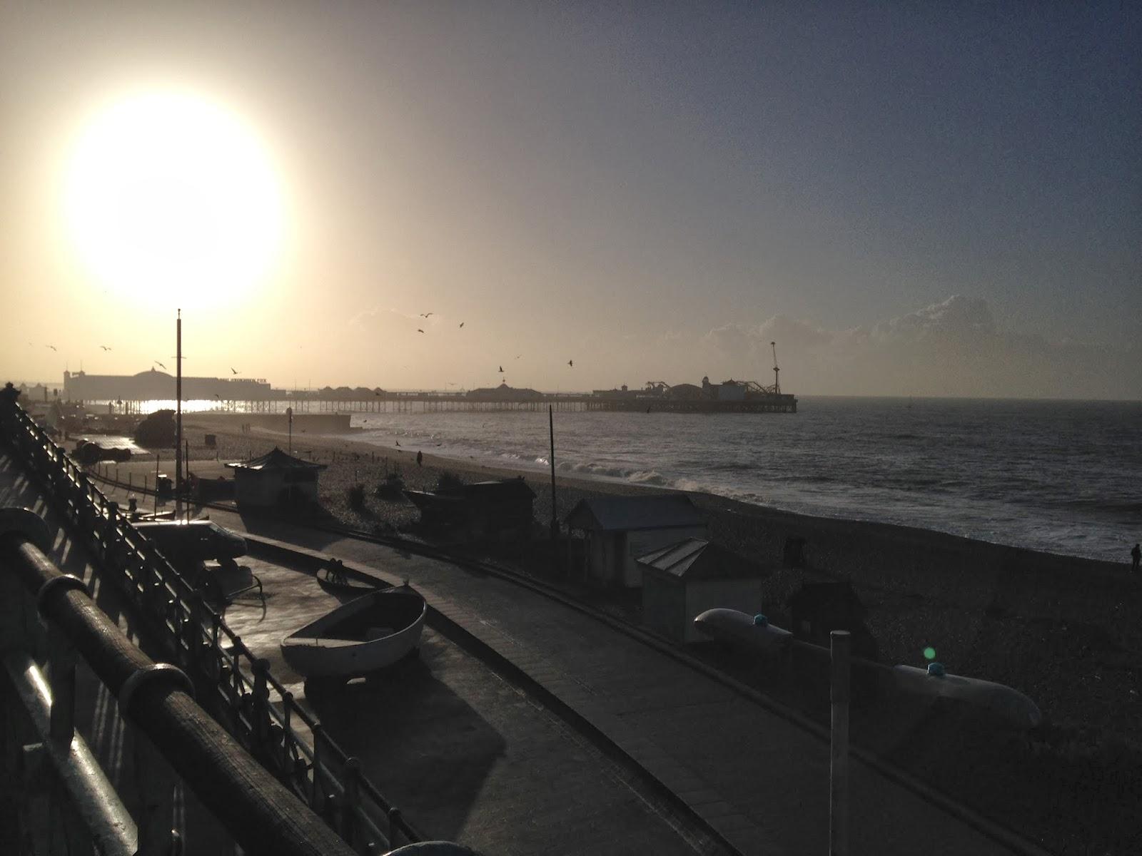 Brighton beach morning run