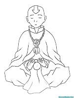 Mewarnai Gambar Biksu Aang Sebelum Menjadi Avatar