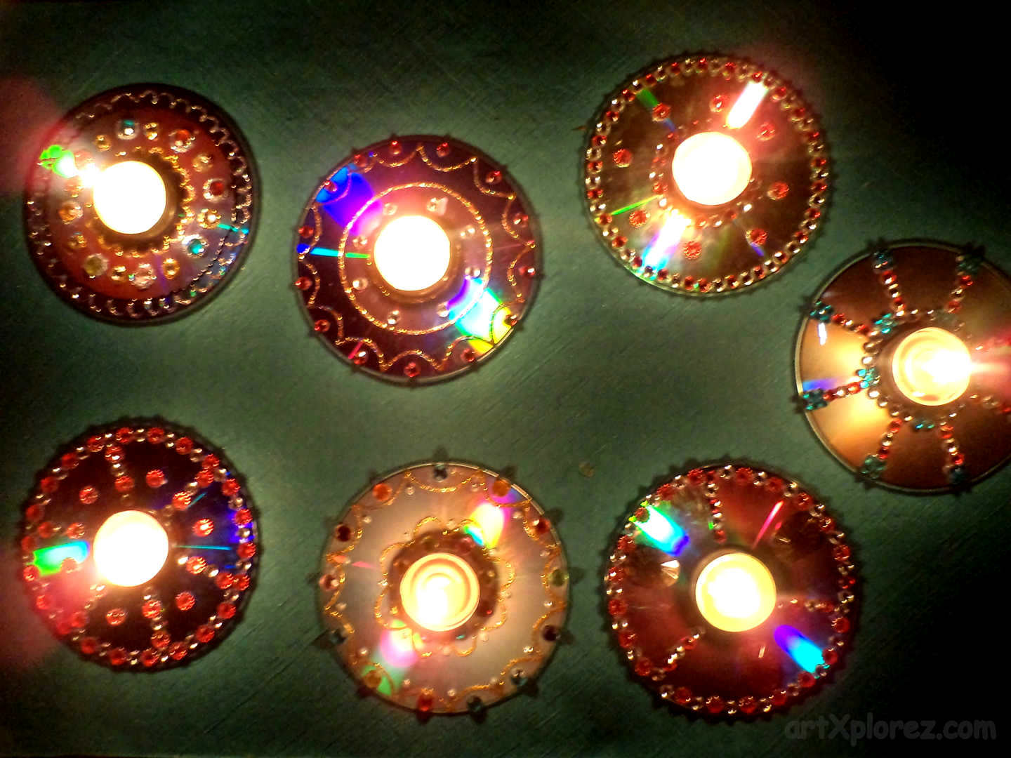 Cd Art Decoration For Lamp Tamil