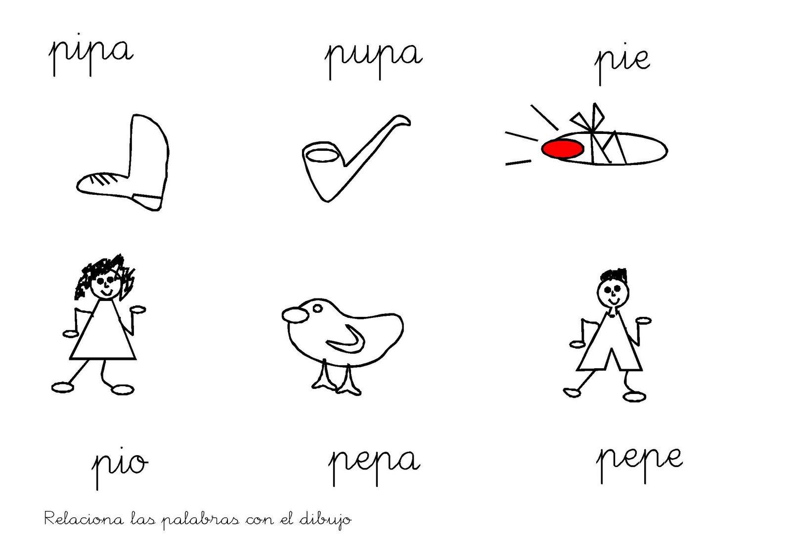 Fichas Infantiles: Fichas letra P