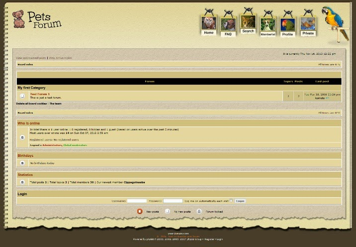 Animals & Pets Forum PhpBB Theme