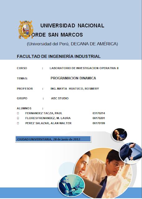 Modelo de caratula o asignación - Imagui