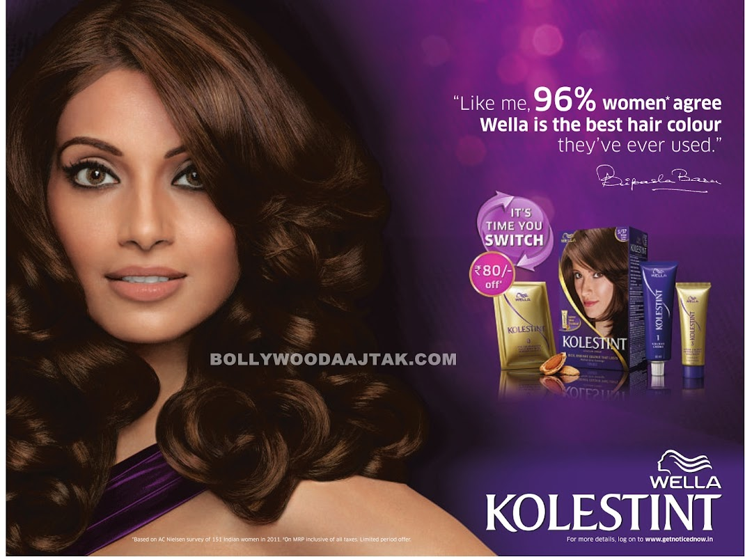 Bipasha Basu Ad Photoshoot for Wella Kolestint
