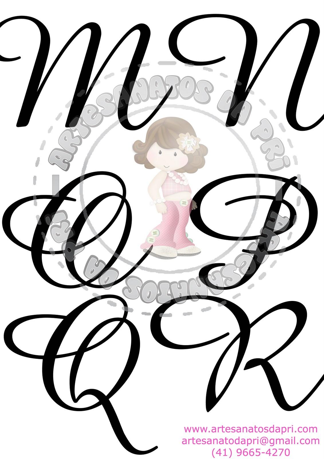 Artesanatos da Pri*: Moldes letras para enfeites de porta
