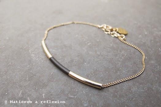 Bracelet Judith Benita noir et or