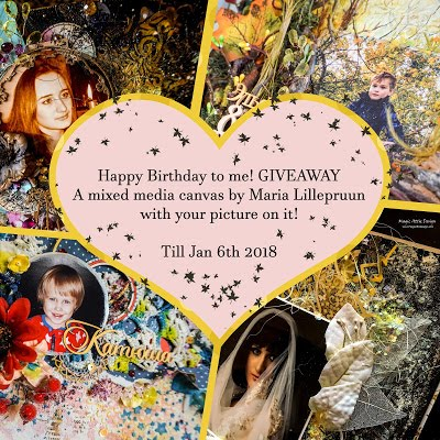 MY GIVEWAY for blogs - MIXED MEDIA CANVAS