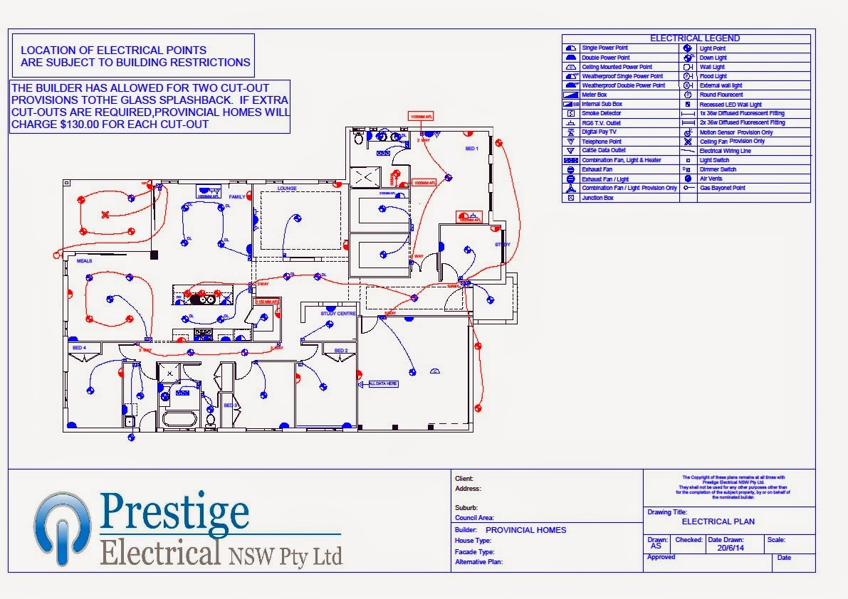 Provincial Homes - Kavehman\'s Modified Fairlight 31: Electrical Plans
