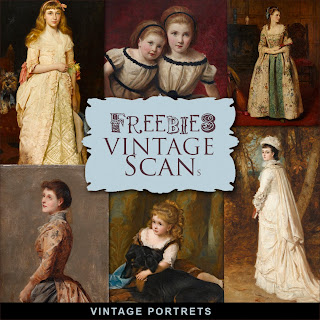 Freebies Kit of Vintage Portrets