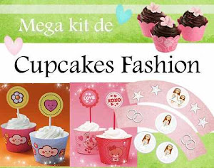 MEGA KIT IMPRIMIBLE CUPCAKES FASHION WRAPPERS