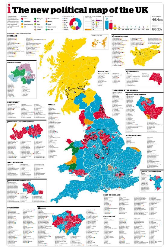 Cartonerd Helecxagon mapping – 2015 Uk Election Map