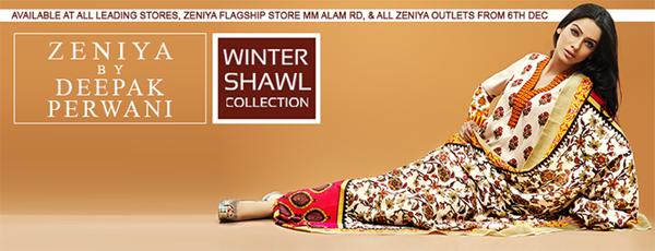 Zeniya Shawl 2014-2015 by Deepak Perwani