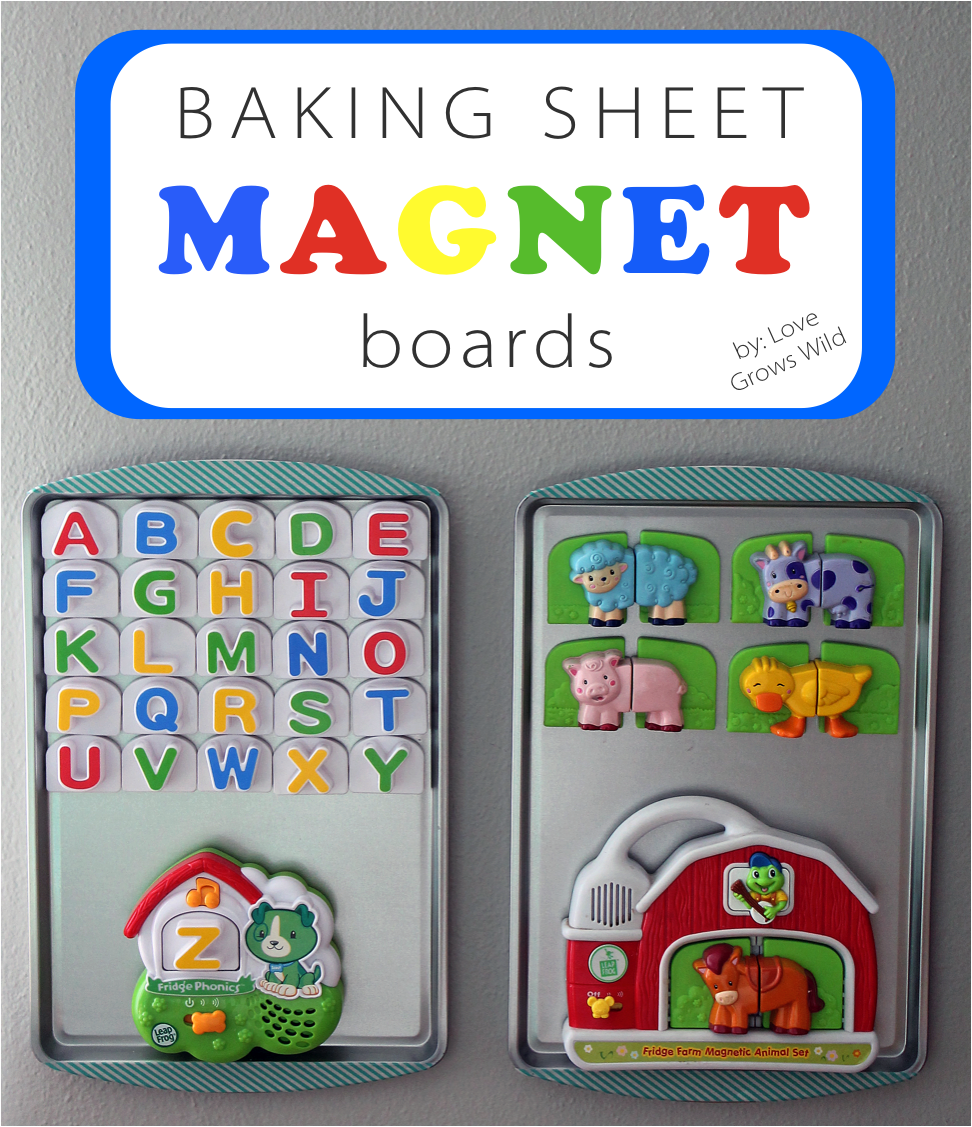 Baking Sheet Magnet Boards Love Grows Wild