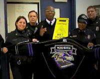 Baltimore police department rallies behind Ravens