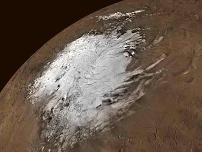 Marte inondato se il polo si sciogliesse