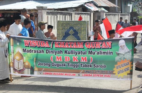 Suasana Perayaan Khatam Alquran MDKM Guguak Tinggi Tabek Sarojo