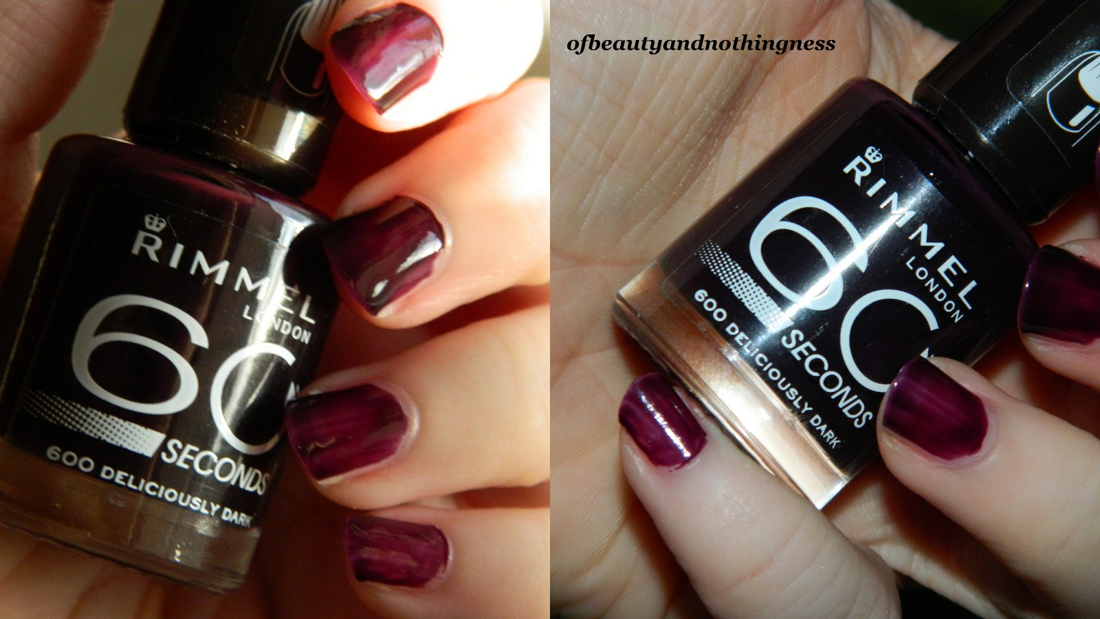 Rimmel 60 Second Nail Polish: Swatches & Review • Of Beauty And ...