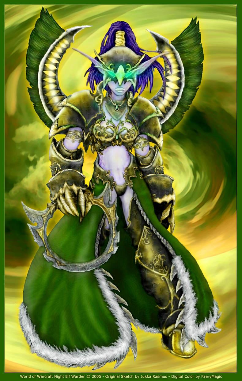 WoW Night Elf Warden por faerymagic