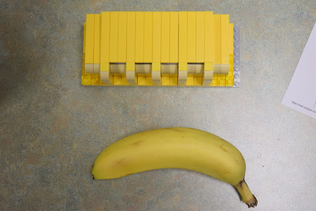 The LEGO Butterdome and a banana