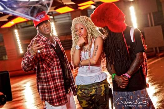 Bastidores do clipe de Birdman Y.U. Mad com Lil Wayne & Nicki Minaj