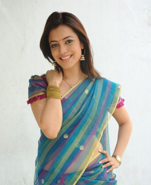 South Indian Actress Nisha Agarwal Looking Cute in Saree Images