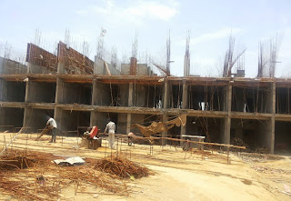 Golf Country, Yamuna Expressway :: Construction Status on July 2014 :-Tower C-4 2 BHK 1000 sq ft