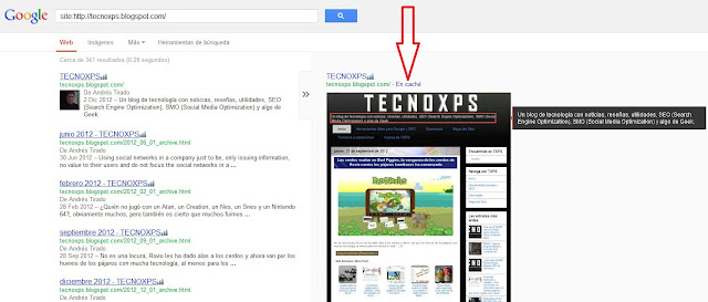 Recuperar una entrada o publicacion borrada en un blog o sitio web mediante Google