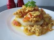 Boiled Yam served with fried Egg