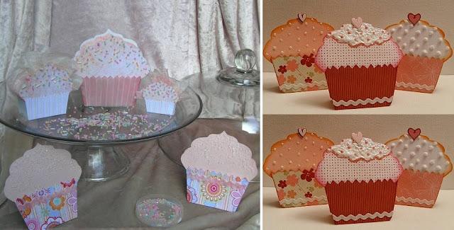 caixa em formato de cupcake